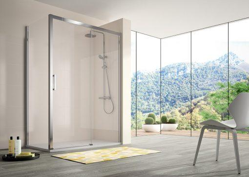 Foto 2 de mampara de la marca Kassandra, modelo Serie 400, en cristalería JCD de Madrid
