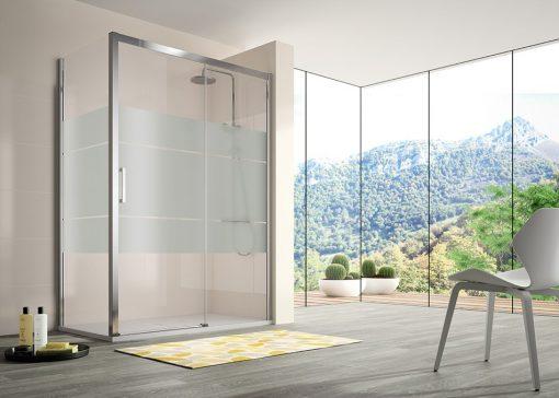 Foto 3 de mampara de la marca Kassandra, modelo Serie 400, en cristalería JCD de Madrid