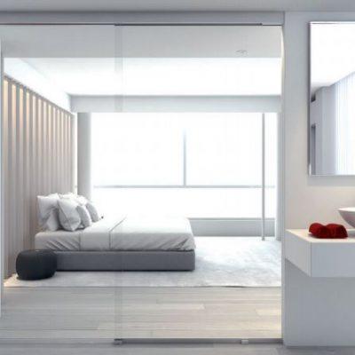 Foto 1 de puerta corredera de la marca Klein, modelo Rollglass+, en cristalería JCD de Madrid