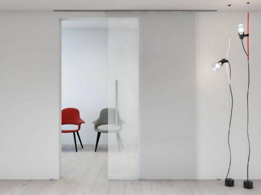 Foto 2 de puerta corredera de la marca Klein, modelo Unikglass+, en cristalería JCD de Madrid
