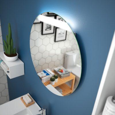 Foto de espejo de la marca Salgar, modelo Round, en cristalería JCD de Madrid